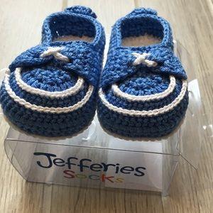 NIB, Newborn knit loafer bootie